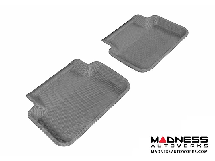 Audi A4/ S4/ RS4 Floor Mats (Set of 2) - Rear - Gray by 3D MAXpider (2009-2015)