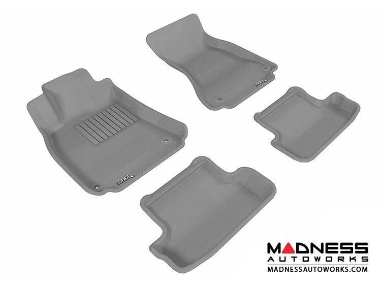 Audi A5/ S5 Floor Mats (Set of 4) - Gray by 3D MAXpider (2009-2015)