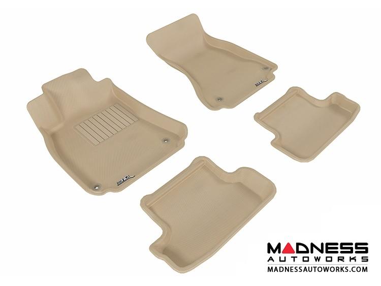 Audi A5/ S5 Floor Mats (Set of 4) - Tan by 3D MAXpider (2009-2015)