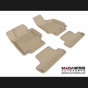 Audi TT/ TTS Floor Mats (Set of 4) - Tan by 3D MAXpider (2008-2015)
