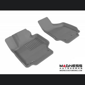 Audi TT/ TTS Floor Mats (Set of 2) - Front - Gray by 3D MAXpider (2008-2015)