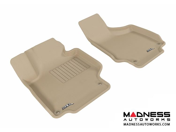 Audi TT/ TTS Floor Mats (Set of 2) - Front - Tan by 3D MAXpider (2008-2015)