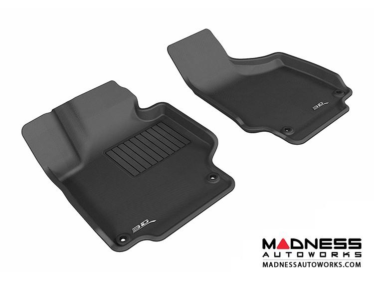 Audi TT/ TTS Floor Mats (Set of 2) - Front - Black by 3D MAXpider (2008-2015)