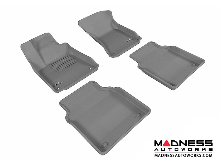 Audi A8L Floor Mats (Set of 4) - Gray by 3D MAXpider (2011-2015)