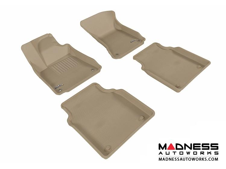 Audi A8L Floor Mats (Set of 4) - Tan by 3D MAXpider (2011-2015)
