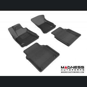 Audi A8L Floor Mats (Set of 4) - Black by 3D MAXpider (2011-2015)