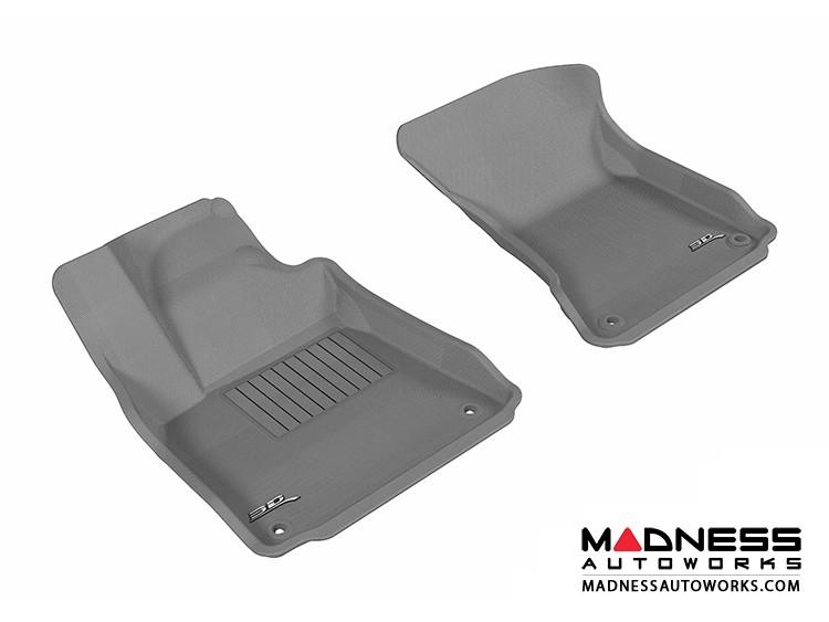 Audi A8/ A8L Floor Mats (Set of 2) - Front - Gray by 3D MAXpider (2011-2015)