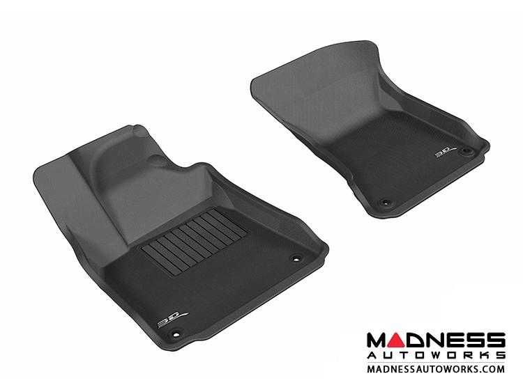 Audi A8/ A8L Floor Mats (Set of 2) - Front - Black by 3D MAXpider (2011-2015)