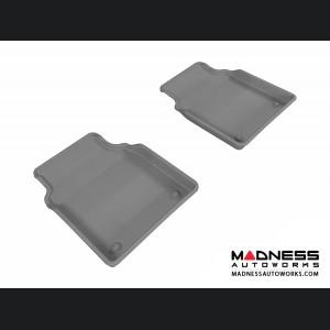 Audi A8L Floor Mats (Set of 2) - Rear - Gray by 3D MAXpider (2011-2015)