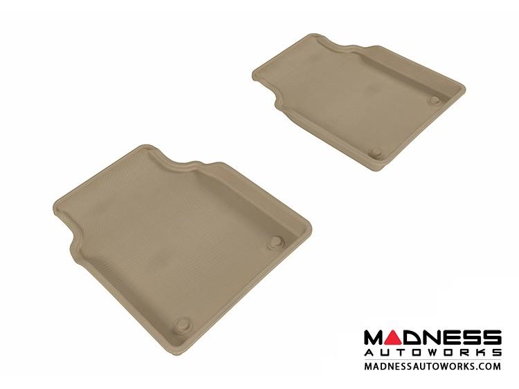 Audi A8L Floor Mats (Set of 2) - Rear - Tan by 3D MAXpider (2011-2015)