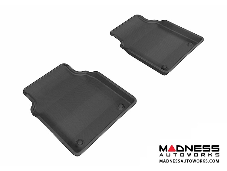 Audi A8L Floor Mats (Set of 2) - Rear - Black by 3D MAXpider (2011-2015)