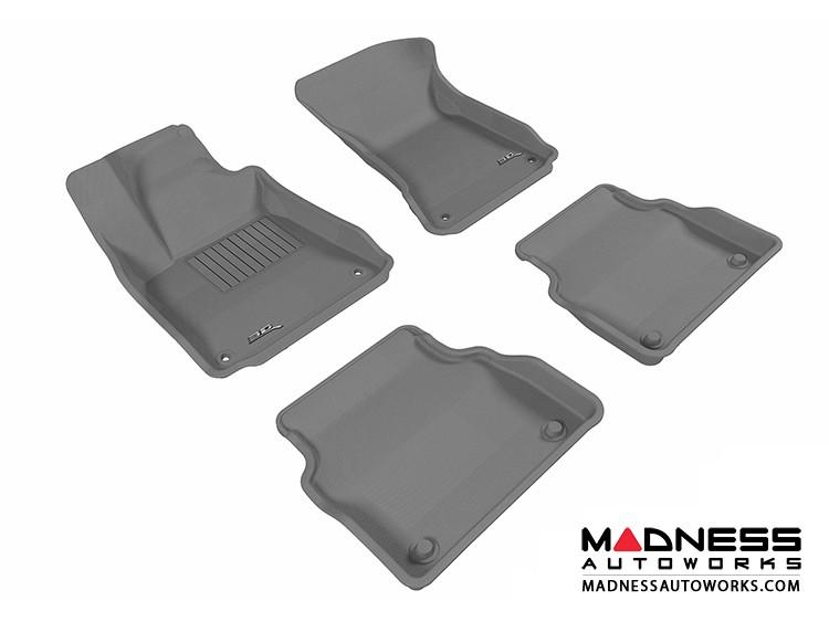 Audi A8 Floor Mats (Set of 4) - Gray by 3D MAXpider (2011-2015)
