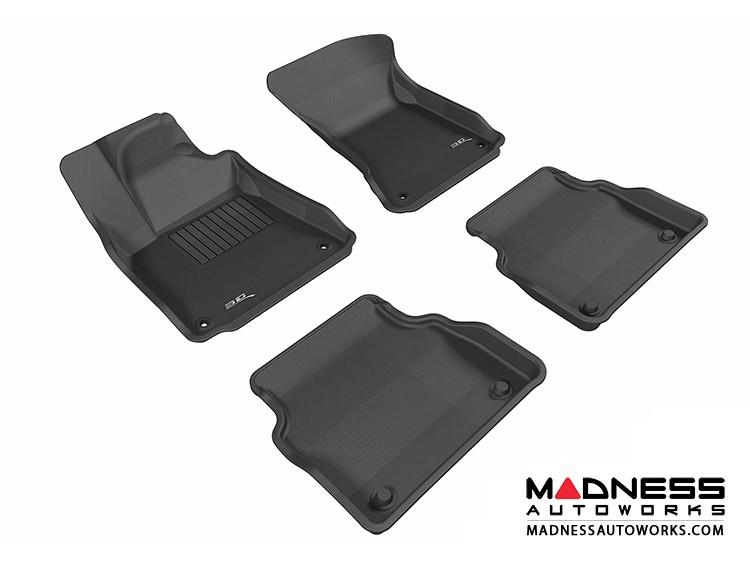 Audi A8 Floor Mats (Set of 4) - Black by 3D MAXpider (2011-2015)