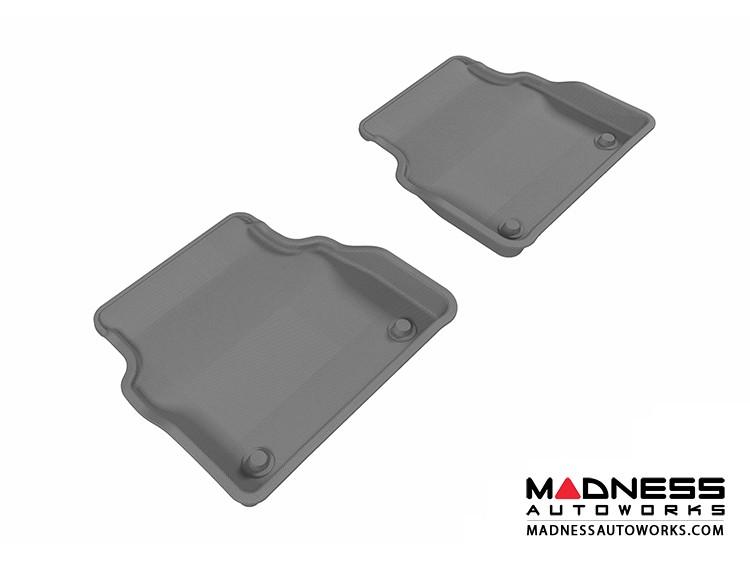 Audi A8 Floor Mats (Set of 2) - Rear - Gray by 3D MAXpider (2011-2015)