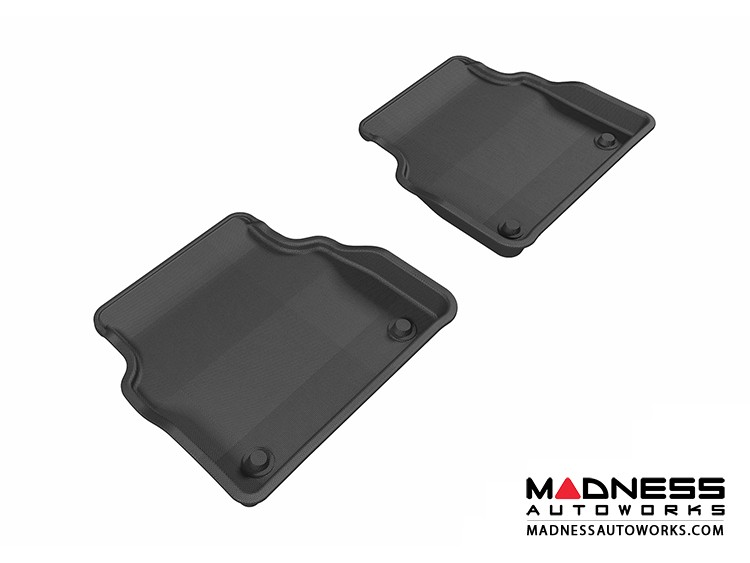 Audi A8 Floor Mats (Set of 2) - Rear - Black by 3D MAXpider (2011-2015)