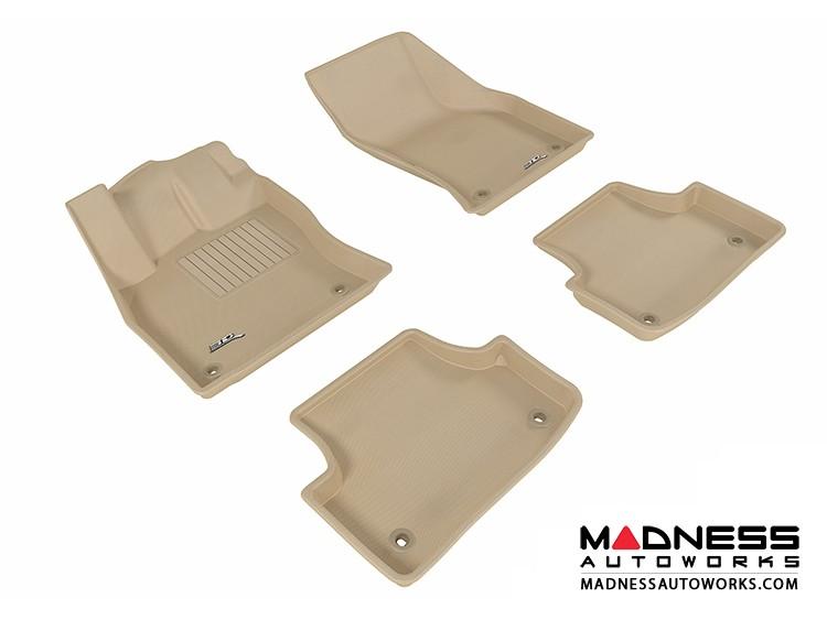 Audi A3/ S3 Floor Mats (Set of 4) - Tan by 3D MAXpider (2015-)