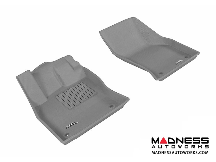 Audi A3/ S3 Floor Mats (Set of 2) - Front - Gray by 3D MAXpider (2015-)