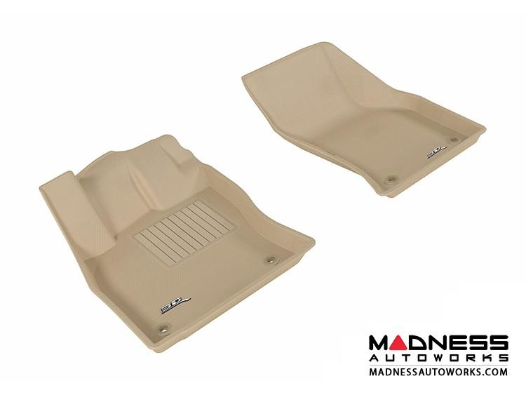 Audi A3/ S3 Floor Mats (Set of 2) - Front - Tan by 3D MAXpider (2015-)
