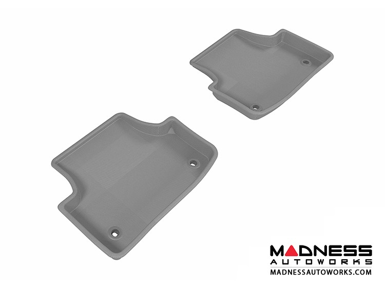 Audi A3/ S3 Floor Mats (Set of 2) - Rear - Gray by 3D MAXpider (2015-)