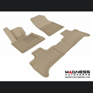 BMW X5 (E53) Floor Mats (Set of 3) - Tan by 3D MAXpider