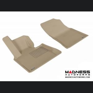BMW X5 (E53) Floor Mats (Set of 2) - Front - Tan by 3D MAXpider
