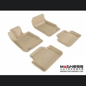 BMW 3 Series Sedan (E90) Floor Mats (Set of 4) - Tan by 3D MAXpider