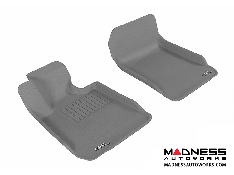 BMW 3 Series Sedan (E90)/ (E92) Floor Mats (Set of 2) - Front - Gray by 3D MAXpider