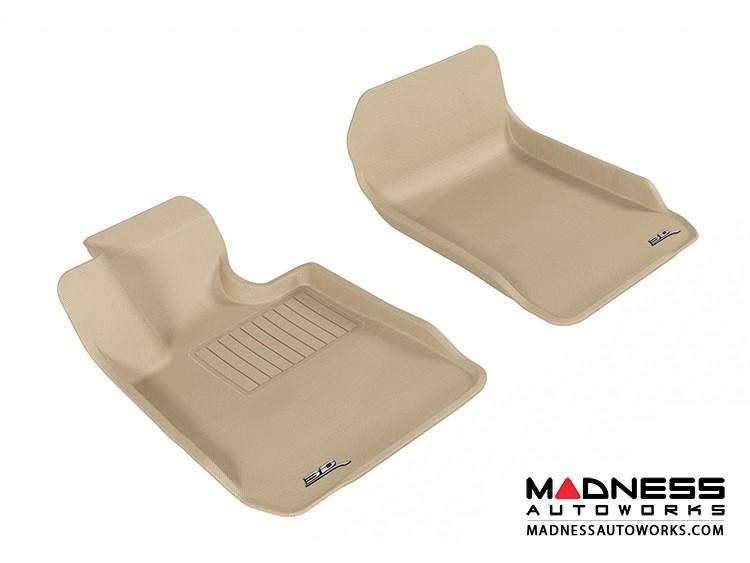 BMW 3 Series Sedan (E90)/ (E92) Floor Mats (Set of 2) - Front - Tan by 3D MAXpider