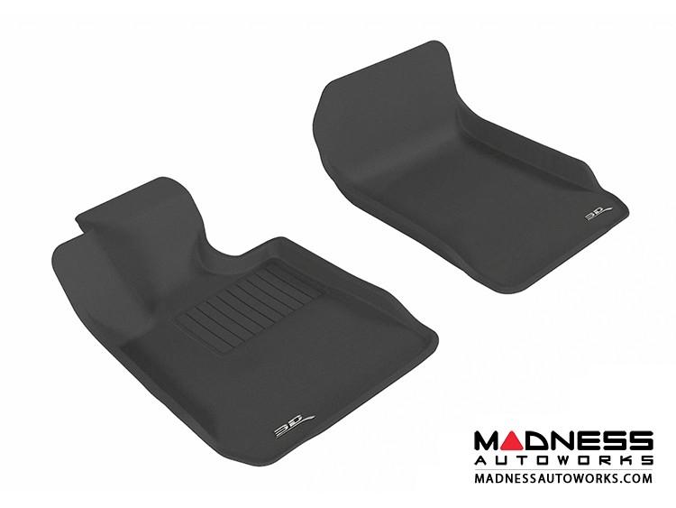BMW 3 Series Sedan (E90)/ (E92) Floor Mats (Set of 2) - Front - Black by 3D MAXpider