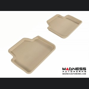 BMW 3 Series Sedan (E90)/ X3 (E83) Floor Mats (Set of 2) - Rear - Tan by 3D MAXpider