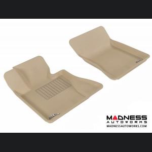 BMW X3 (E83) Floor Mats (Set of 2) - Front - Tan by 3D MAXpider