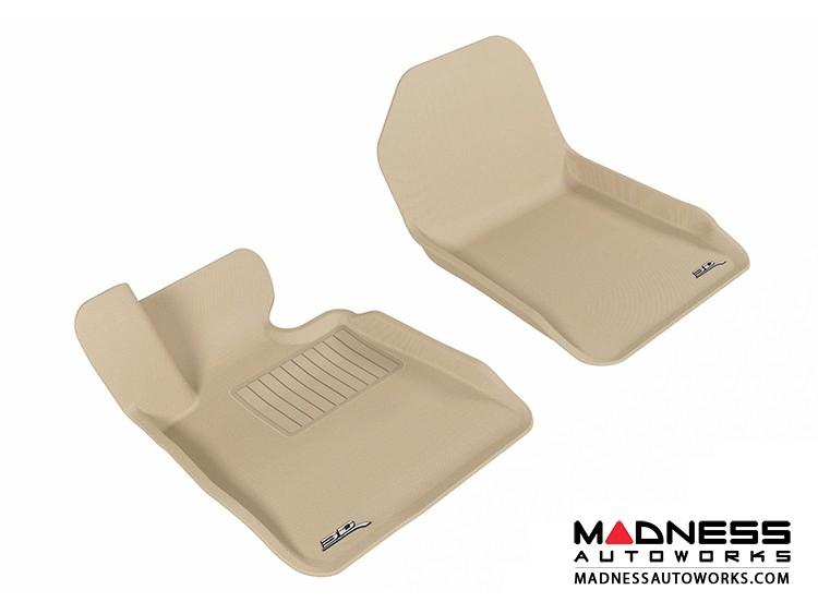 BMW 3 Series Convertible (E93) Floor Mats (Set of 2) - Front - Tan by 3D MAXpider