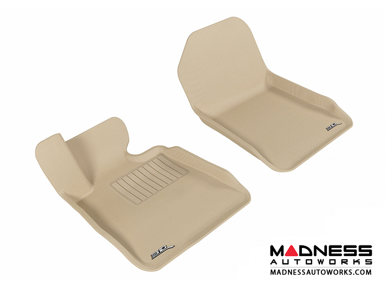 BMW 3 Series Convertible (E93) Floor Mats (Set of 2) - Front - Tan by 3D MAXpider