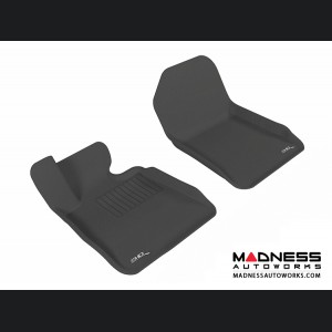 BMW 3 Series Convertible (E93) Floor Mats (Set of 2) - Front - Black by 3D MAXpider