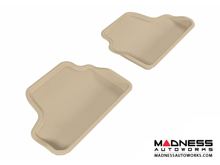 BMW 3 Series Convertible (E93) Floor Mats (Set of 2) - Rear - Tan by 3D MAXpider