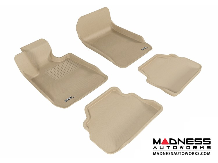 BMW 3 Series Coupe (E92) Floor Mats (Set of 4) - Tan by 3D MAXpider