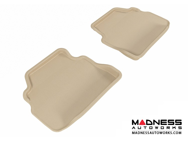 BMW 3 Series Coupe (E92) Floor Mats (Set of 2) - Rear - Tan by 3D MAXpider