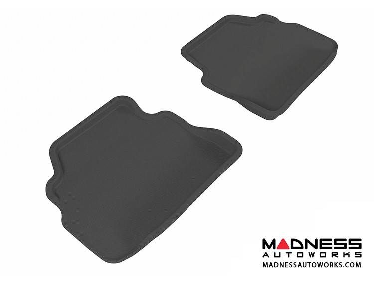 BMW 3 Series Coupe (E92) Floor Mats (Set of 2) - Rear - Black by 3D MAXpider