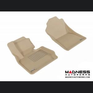 BMW X3 (F25)/ X4 (F26) Floor Mats (Set of 2) - Front - Tan by 3D MAXpider
