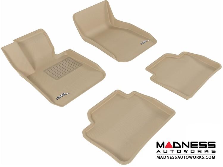 BMW 3 Series (F30) Floor Mats (Set of 4) - Tan by 3D MAXpider