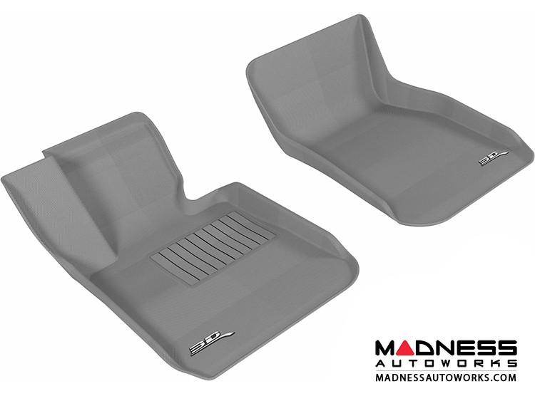BMW 3 Series (F30) Floor Mats (Set of 2) - Front - Gray by 3D MAXpider