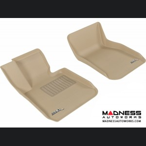BMW 3 Series (F30) Floor Mats (Set of 2) - Front - Tan by 3D MAXpider