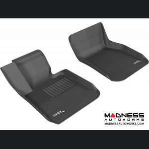 BMW 3 Series (F30) Floor Mats (Set of 2) - Front - Black by 3D MAXpider