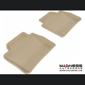 BMW 3 Series (F30)/ 4 Series (F36) Floor Mats (Set of 2) - Rear - Tan by 3D MAXpider