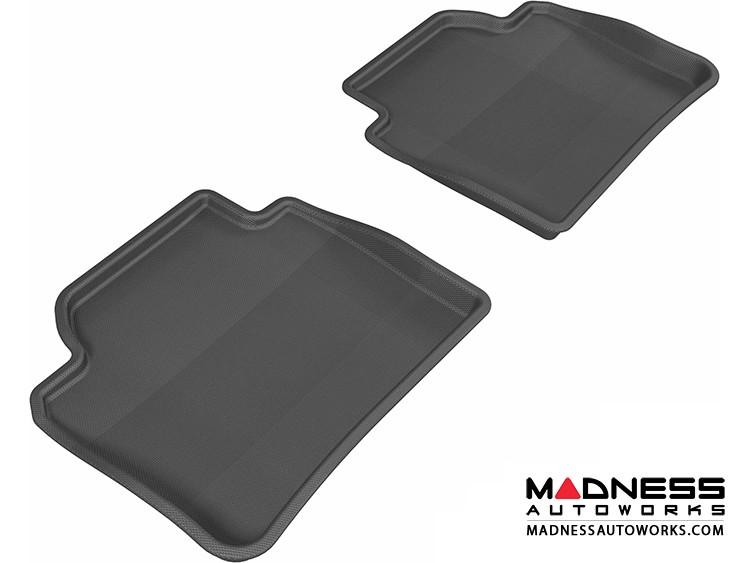 BMW 3 Series (F30)/ 4 Series (F36) Floor Mats (Set of 2) - Rear - Black by 3D MAXpider