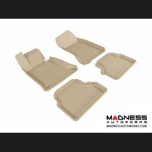 BMW 5 Series (E60) Floor Mats (Set of 4) - Tan by 3D MAXpider
