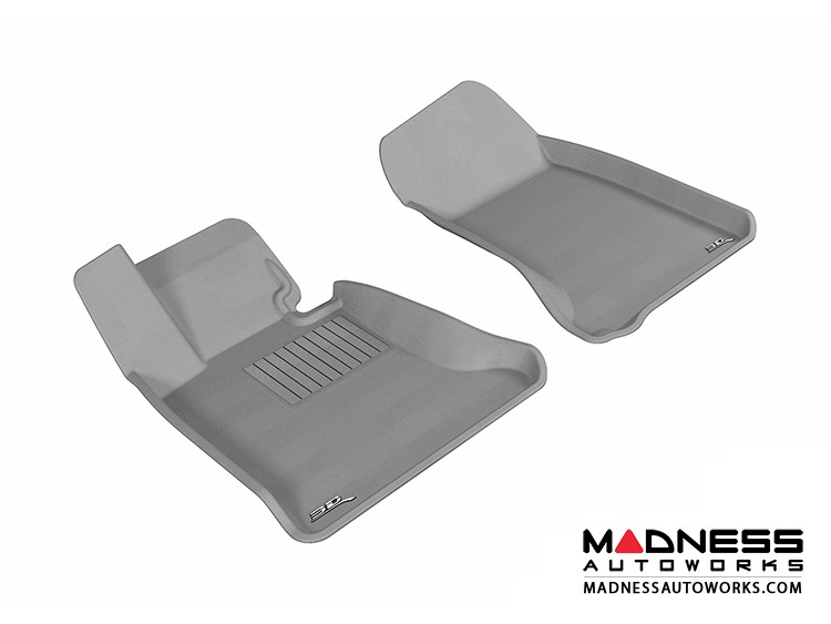 BMW 5 Series (E60) Floor Mats (Set of 2) - Front - Gray by 3D MAXpider