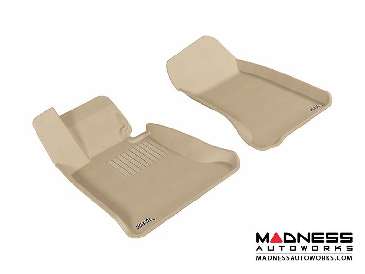 BMW 5 Series (E60) Floor Mats (Set of 2) - Front - Tan by 3D MAXpider