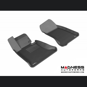 BMW 5 Series (E60) Floor Mats (Set of 2) - Front - Black by 3D MAXpider