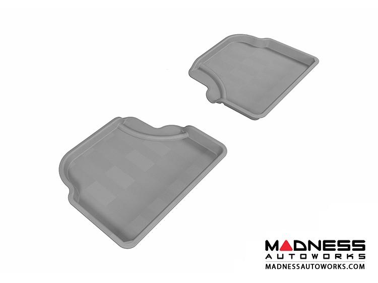 BMW 5 Series (E60) Floor Mats (Set of 2) - Rear - Gray by 3D MAXpider